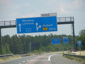 De A6 tussen Mannheim en Nürnberg (foto Jeroen de Regt, 2010).