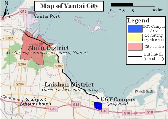 A Visit To University Of Groningen Yantai Girugten - Yantai map